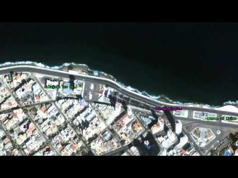 Havana Cuba Satellite Fly-Over Images