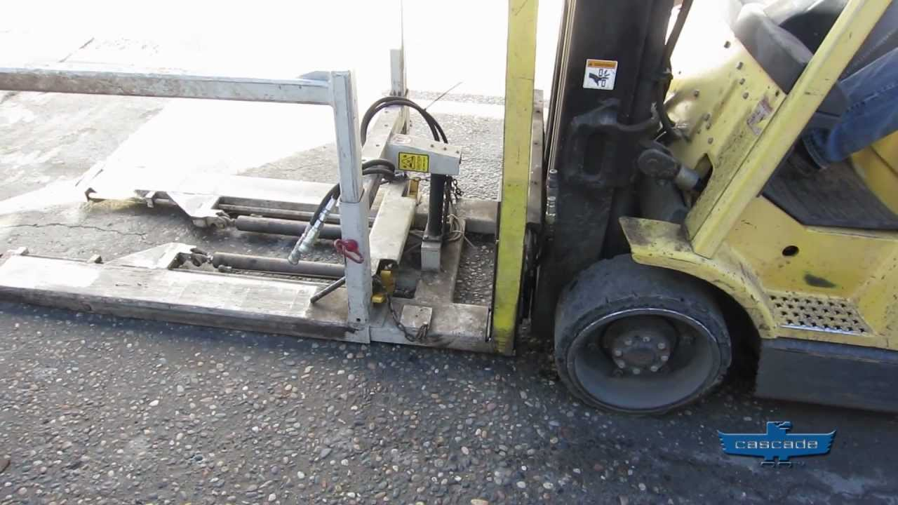 Cascade Qfm Quick Fork Mount Forward Bin Dumper Forklift