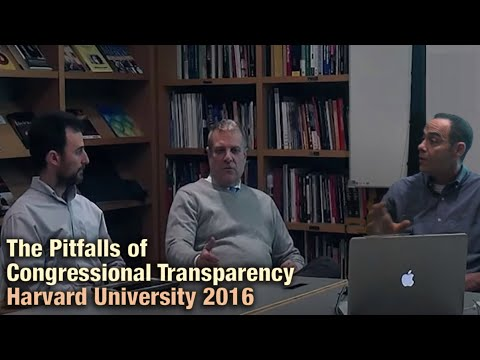 Harvard Talk - How Transparency & Accountability Overwhelmingly Favor Special Interests