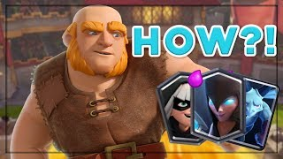 MY FAVORITE CCGS TOURNAMENT DECK! Giant Miner Madness - Clash Royale