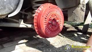 Грохот при торможении, замена распорной пластины ВАЗ 2106