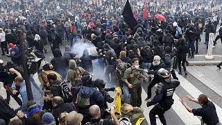 فيديو.. احتجاج عشرات الآلاف في باريس مجددا ضد قانون العمل