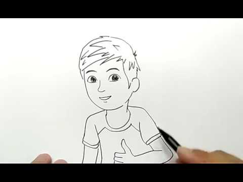 Cara Menggambar Adit Sopo Jarwo Dengan Mudah Youtube