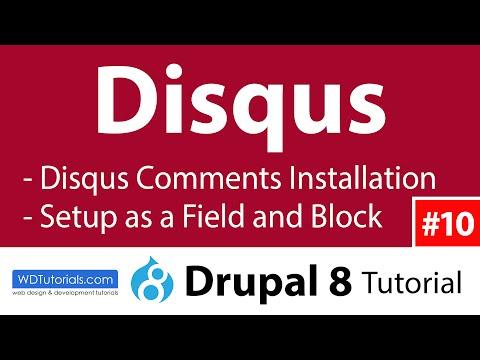 Disqus Comments (Drupal 8 Tutorial #10) (Article + Video)