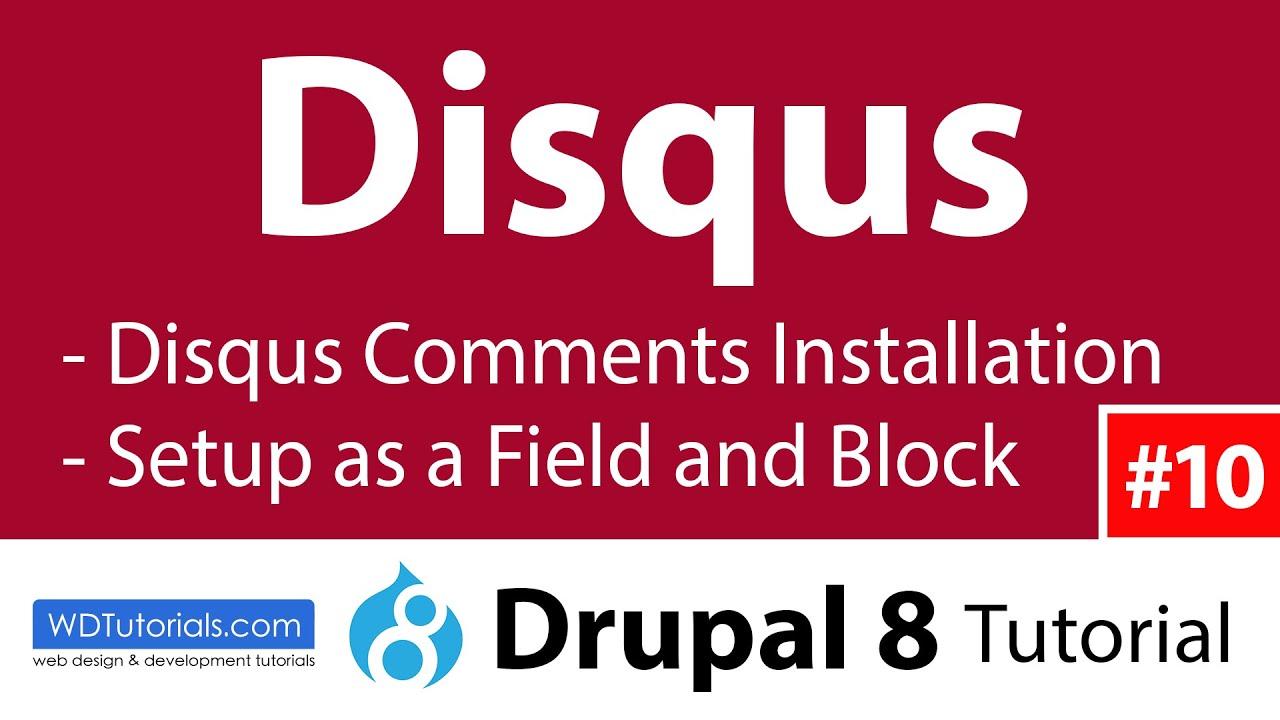 Drupal 8 - Comments With Disqus