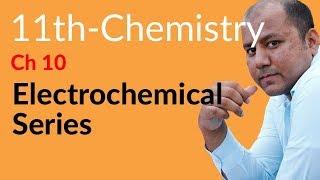 electrochemical series in hindi