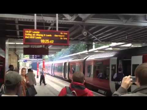 Fire at Bingley train station in West Yorkshire