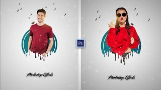 Ink Paint Dripping Splatter Dp Portrait Editing    Photoshop CC 2020