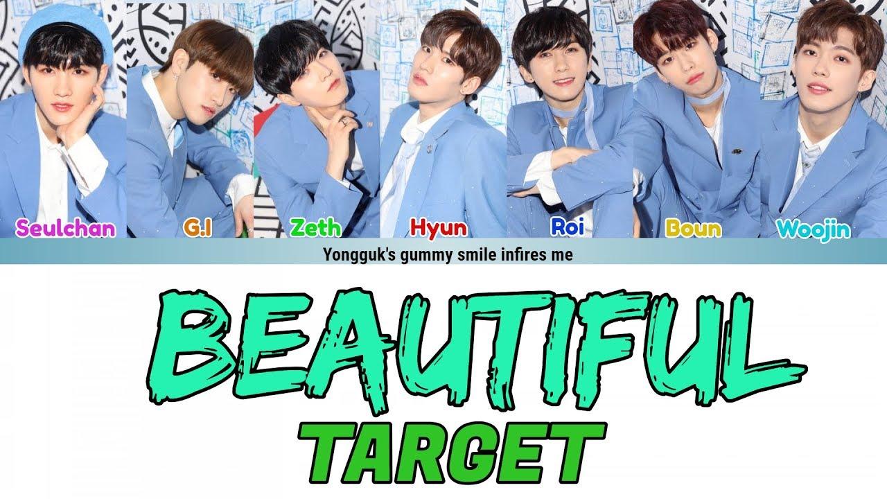 Target 타겟 Beautiful 아름다워 Lyrics Hanromeng Color Coded