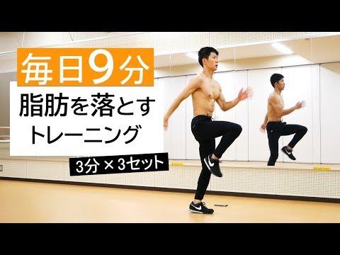 【3分×3セット】毎日9分で痩せる!脂肪燃焼トレーニング!