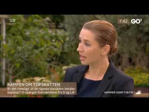 Mette Frederiksen og Anders Samuelsen - debatterer topskat