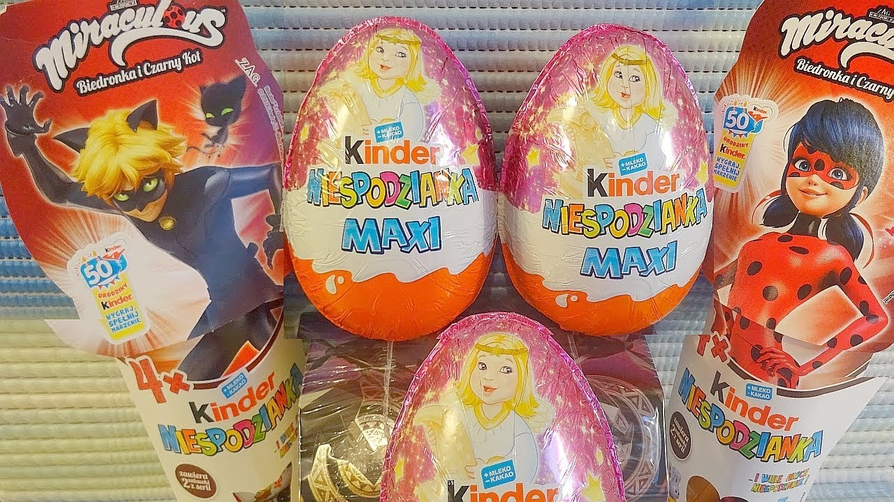 Kinder Maxi Big Pack 2018 Miraculous Kinder Surprise Christmas Maxi Eggs 4 Pack Egg European Collection