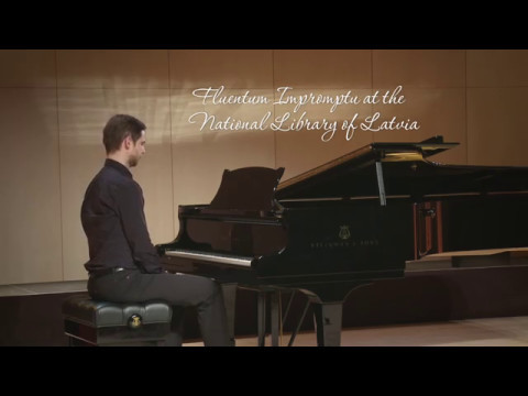 Fluentum Piano Impromptu at the National Library of Latvia