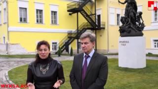 Інтерв'ю зі скульптором композиції «Пори року» В. Макарової і ген,директором «Літ Арт» А. Устенко
