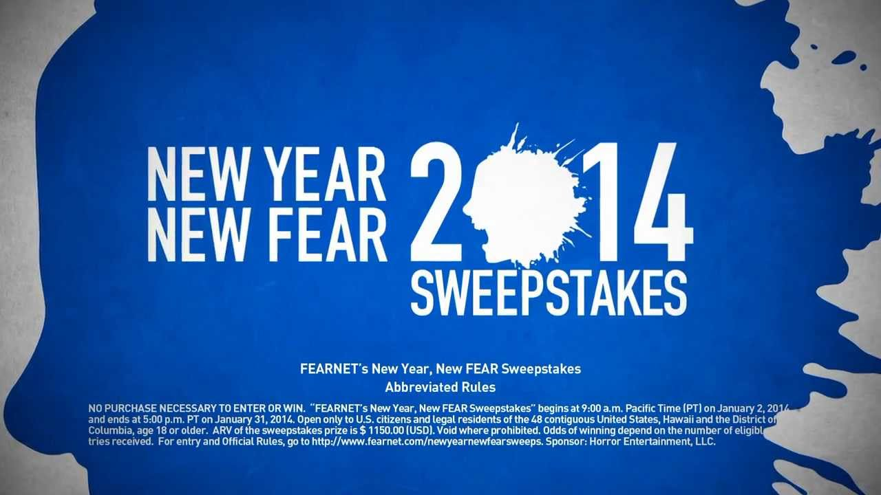FEARNETs New Year FEAR Sweepstakes