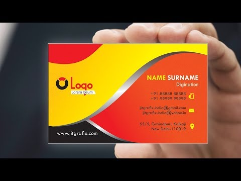 Professional Business Card in CorelDRAW Tutorial  with Jit Grafix   Creative visiting card latest