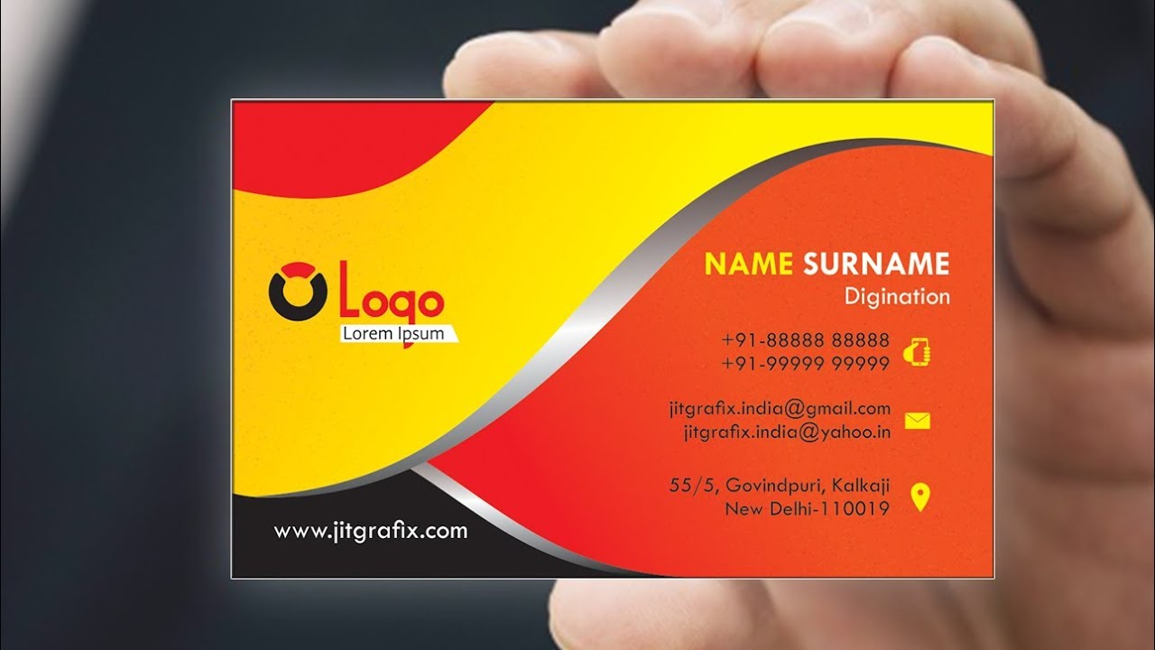 Professional business card in coreldraw tutorial with jit grafix professional business card in coreldraw tutorial with jit grafix creative visiting card latest reheart Gallery