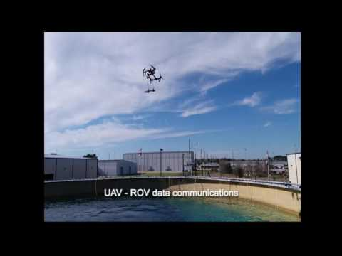 Archive Footage - UAV - ROV Data Communications Through Water-Air Boundary Demonstration 2017