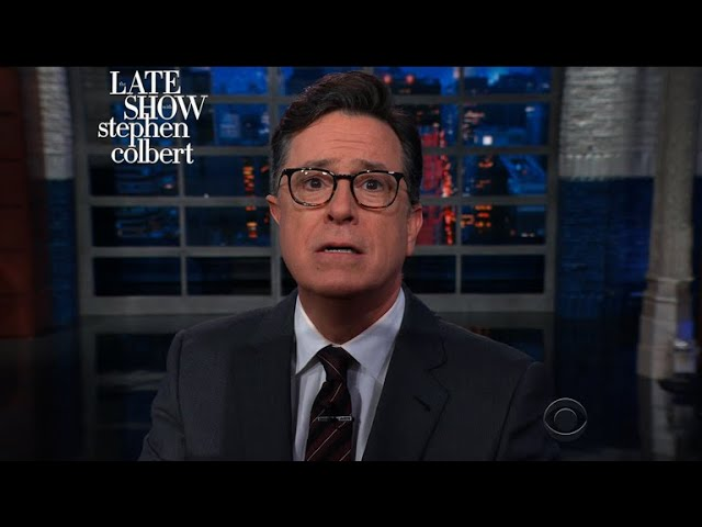 67decaa6e4 Colbert guesses what Bush whispered that made Obama crack up