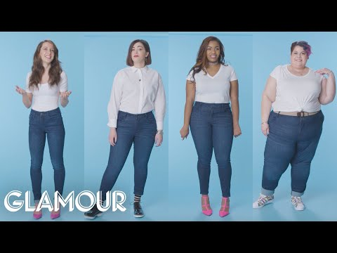 Women Sizes 0 Through 28 Try On The Same Jeans | Glamour