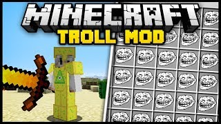 Minecraft TROLL MOD (Mod Showcase)