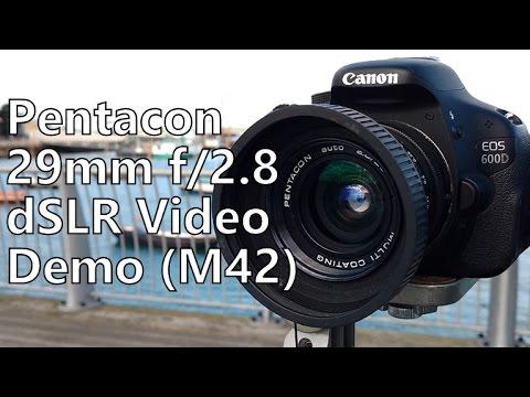 Shooting Video Demo: M42 Pentacon 29mm f/2 8 Lens (Canon 600d t3i dslr)