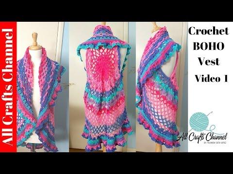 Crochet Boho Style Vest Mystery Crochet Along  Video 1