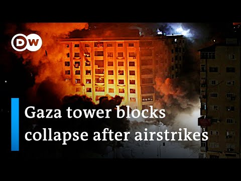 35 Palestinian and 5 Israeli civilians killed by airstrikes and rocket attacks | DW News
