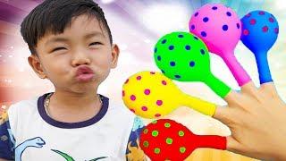 Finger Family Song ( Mommy Finger ) Balloon Version