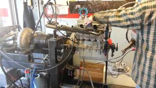 Crosley Alcohol motor on dyno