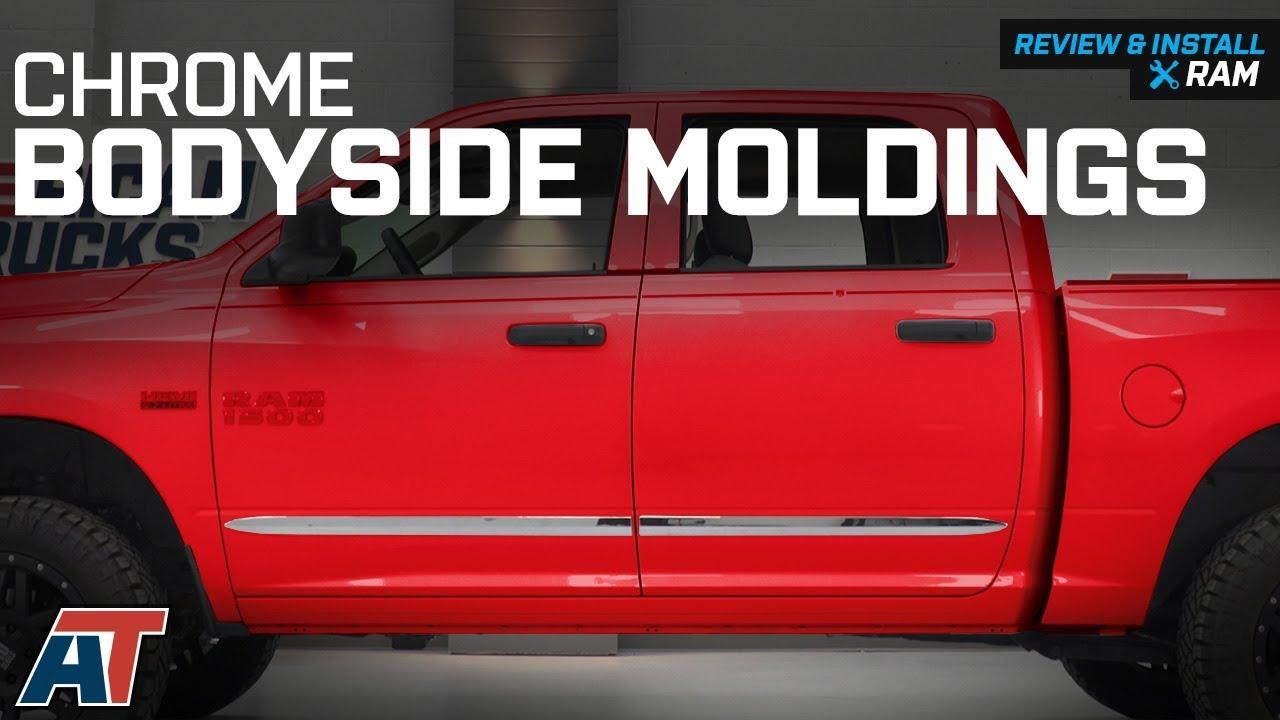 "2009-2018 Dodge Ram 1500 Crew Cab Chrome Side Door Body Molding Trim 2/"""
