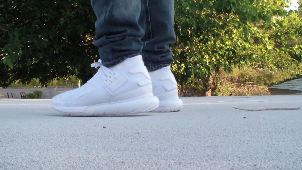 3734ccf34ac9c Adidas Y-3 Qasa High White - Mini Review - On Feet - Estilolv ...