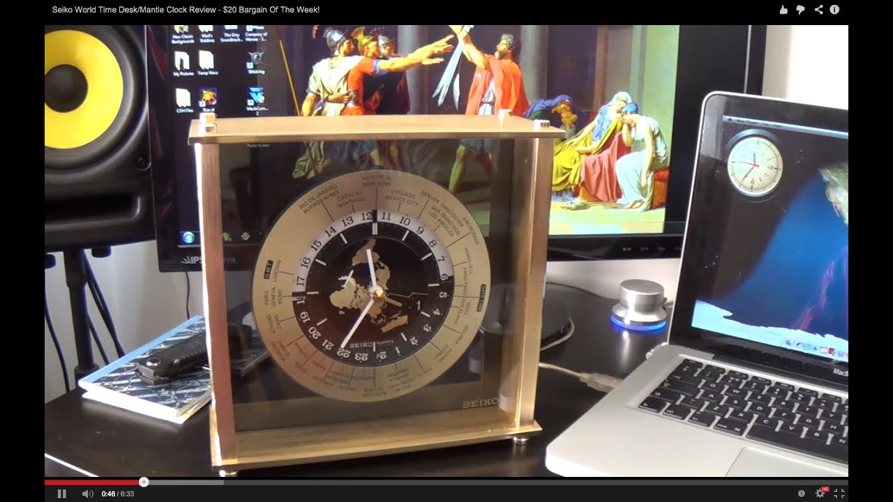 Seiko World Time Desk Mantle Clock Review 20 Bargain Of The Week You