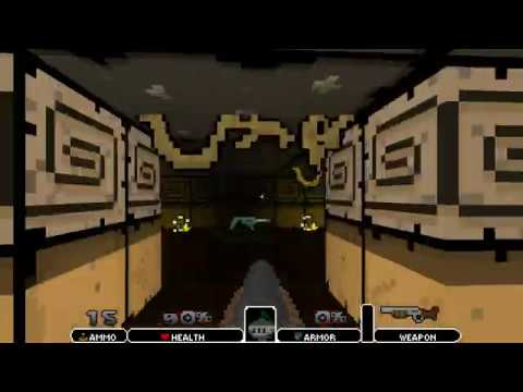 Mighty Knight (Doom 2 Mod) - Level 6: Mountain Tomb Gameplay