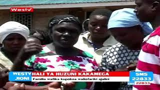 Huzuni Kakamega familia wakipokea maiti ya waliofarikia Fort Ternan
