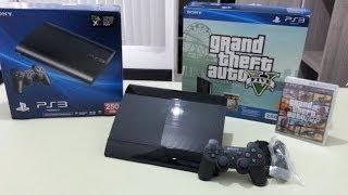 Unboxing - PS3 Super Slim 250GB Bundle GTA V