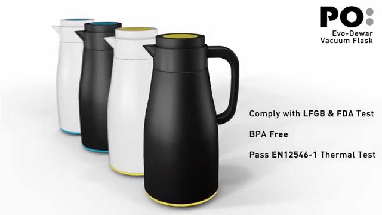 Evo-Dewar Vacuum Flask - Auto Open & Seal