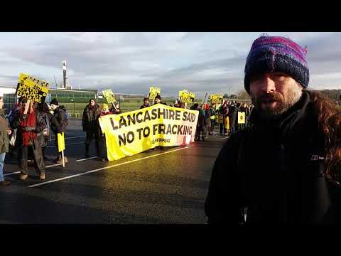 Trip to show our support for the anti-fracking campaigning at Preston New Road