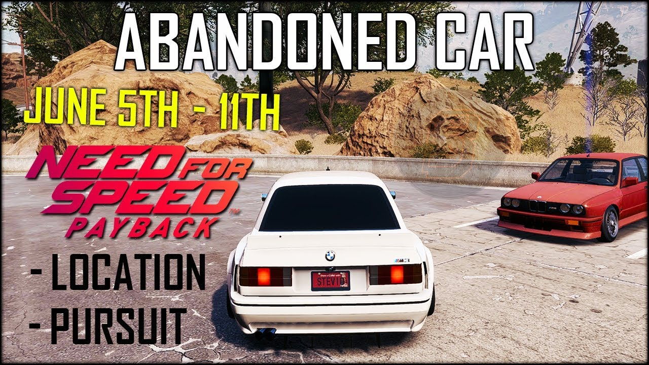 need for speed abandoned car june
