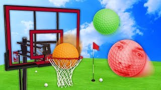ULTIMATE GOLF BALL SLAM DUNK! (Golf With Friends)