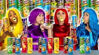 Baixar SUPER POPS PRINGLES CHALLENGE ONE COLOR OF FOOD TASTE TEST. Totally TV Originals
