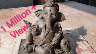 Child Ganesha Idol Making Process in Clay, smile face Ganesha