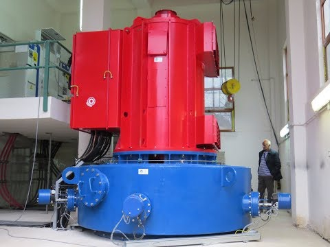 Pelton vertical hydro turbine 1 MW constructioned by Siapro–Turn key project, Albania