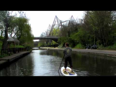 Stand Up Paddling on London's Regents Canal