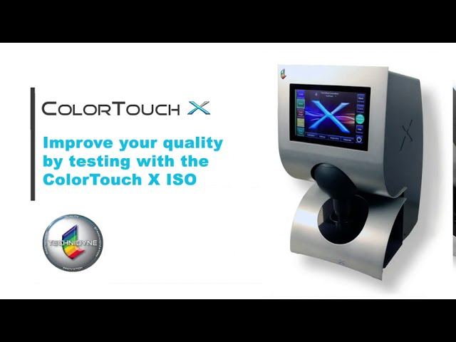 Improve your quality by testing with the ColorTouch® X ISO