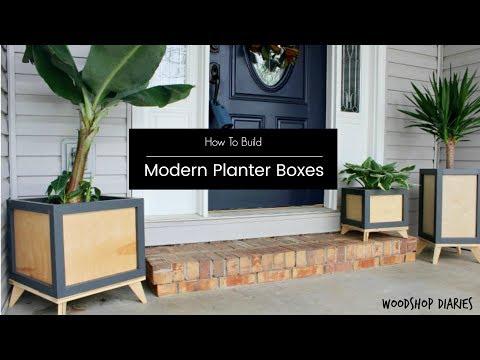 How to Build a DIY Modern Planter Box