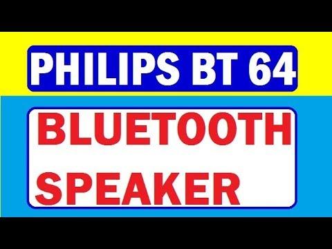 Unboxing Philips Bluetooth Speaker Bt 64b Doovi
