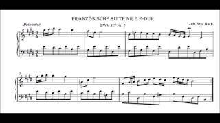 J S Bach French Suite no. 6 in E major BWV 817 Polonaise