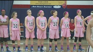 Boardman and Austintown girls basketball teams play in order to fight breast cancer
