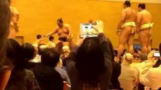 豊ノ島vsちびっこ 大相撲春巡業 行徳闘牙場所 公開稽古 -2015/4/11.